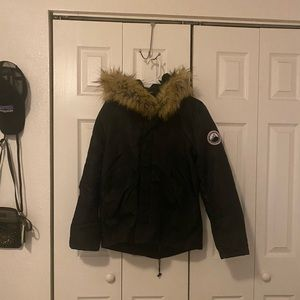 Boohoo Faux Fur Lined Winter Jacket